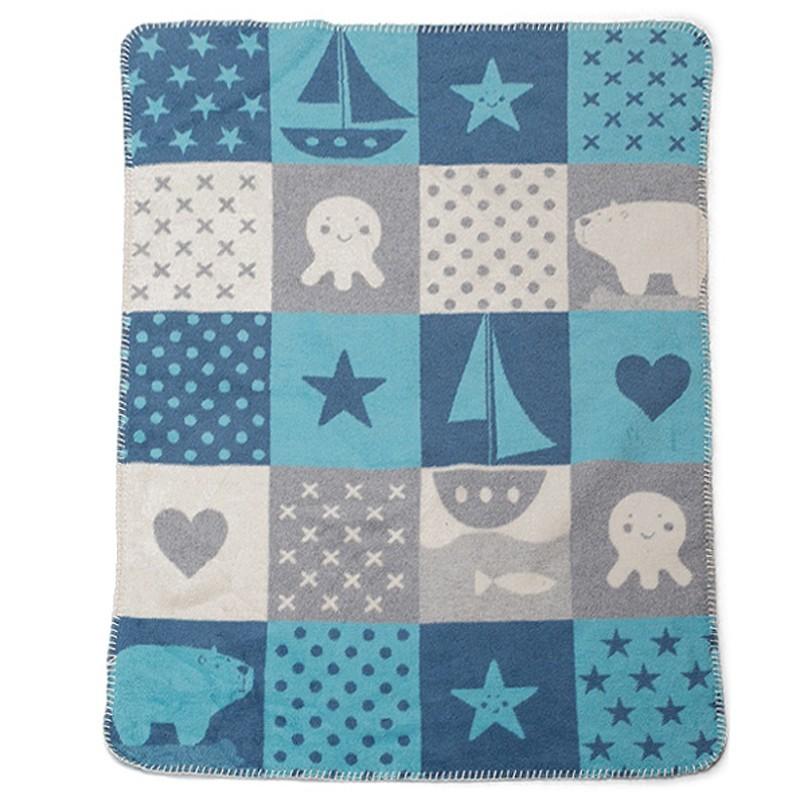Κουβέρτα Fleece Αγκαλιάς David Fussenegger Mila 0290/57 home   βρεφικά   κουβέρτες βρεφικές   κουβέρτες fleece