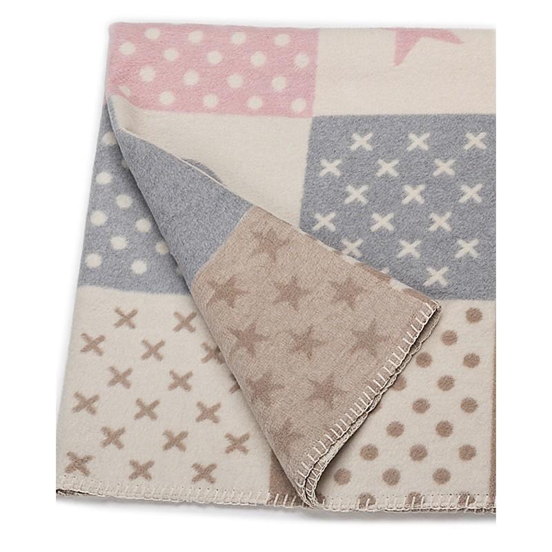 Κουβέρτα Fleece Κούνιας David Fussenegger Mila 0291/80 home   βρεφικά   κουβέρτες βρεφικές   κουβέρτες fleece