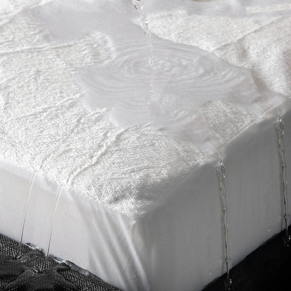 Κάλυμμα Στρώματος Υπέρδιπλο Αδιάβροχο Rythmos Με Φούστα