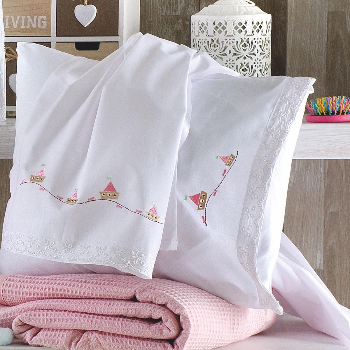 Σεντόνια Κούνιας (Σετ) Rythmos Baby Bateaux Pink
