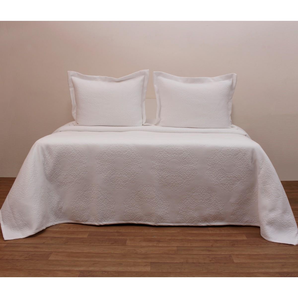 Κουβερτόριο Μονό Anna Riska Megan White home   κρεβατοκάμαρα   κουβέρτες   κουβέρτες καλοκαιρινές μονές