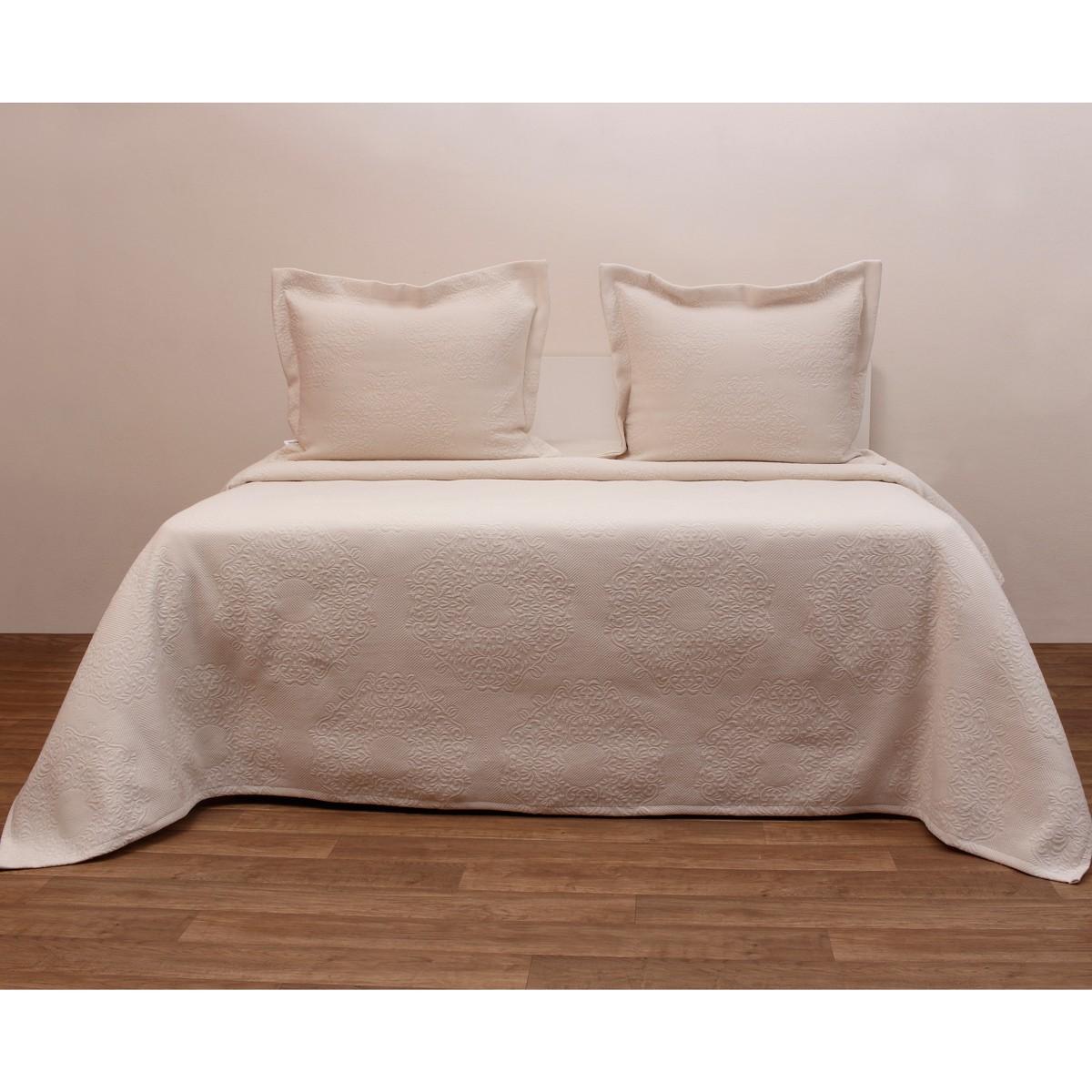 Κουβερτόριο Μονό Anna Riska Megan Ivory home   κρεβατοκάμαρα   κουβέρτες   κουβέρτες καλοκαιρινές μονές