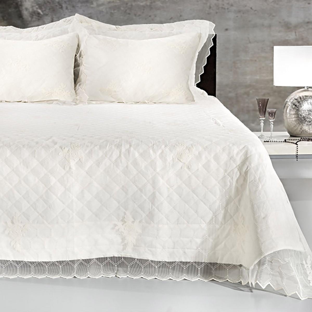 Νυφικό Κουβερλί (Σετ 6τμχ) Guy Laroche Romantic Ivory home   μόδα γάμου   κουβερλί νυφικά
