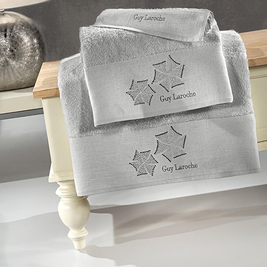 Πετσέτες Μπάνιου (Σετ 3τμχ) Guy Laroche Wind Silver