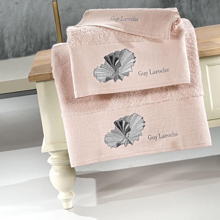 Πετσέτες Μπάνιου (Σετ 3τμχ) Guy Laroche Shell Old Pink