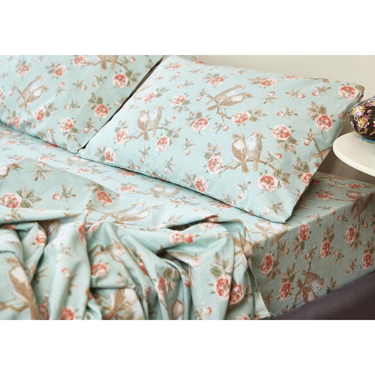 Φανελένια Σεντόνια Διπλά (Σετ) Melinen Laura Aqua home   κρεβατοκάμαρα   σεντόνια   σεντόνια ημίδιπλα   διπλά