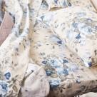 Ζεύγος Φανελένιες Μαξιλαροθήκες Melinen Peony Blue 81399
