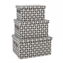 Κουτιά Αποθήκευσης (Σετ 3τμχ) InArt 3-70-197-0045