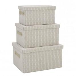 Κουτιά Αποθήκευσης (Σετ 3τμχ) InArt 3-70-197-0046