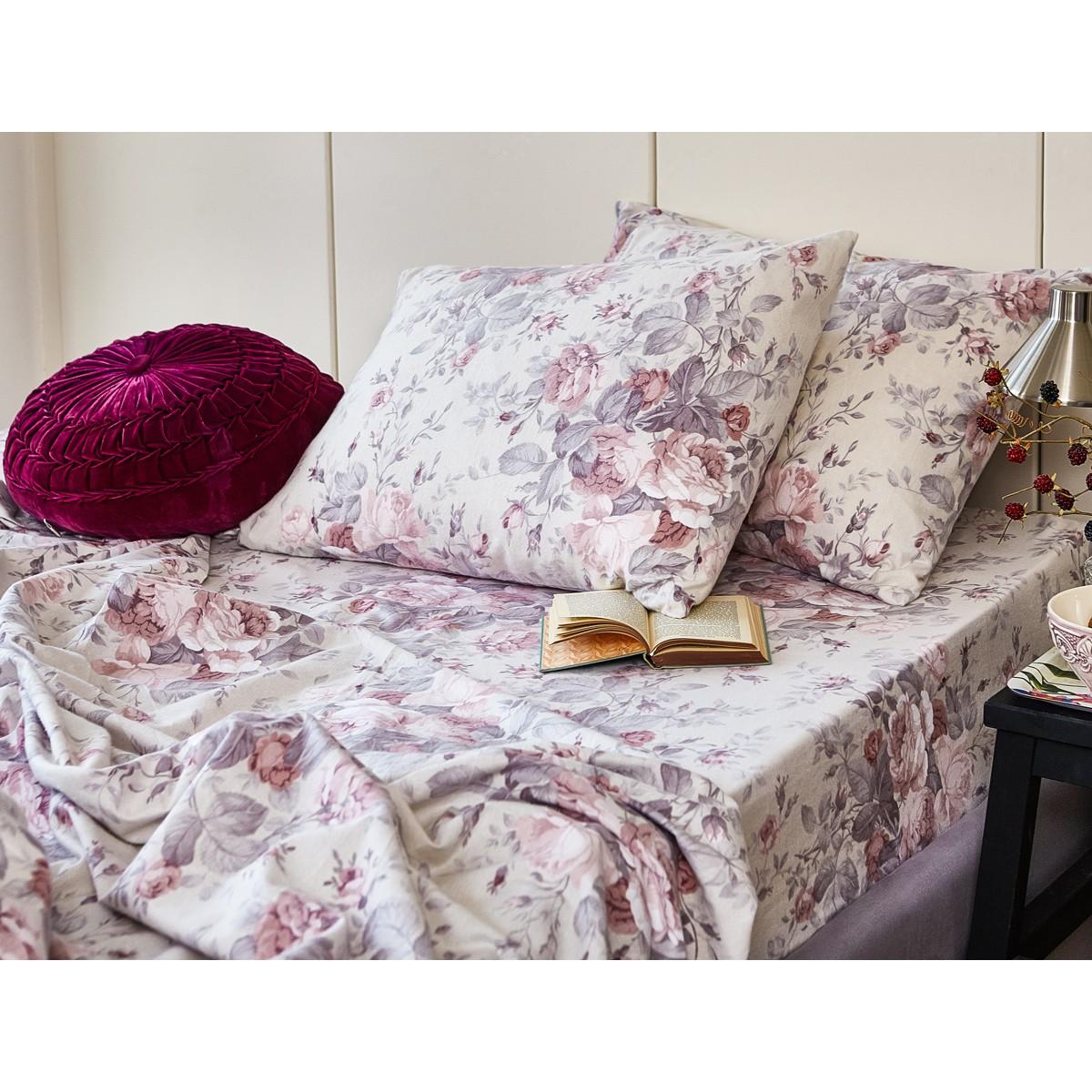 Φανελένια Σεντόνια Διπλά (Σετ) Melinen Peony Rose home   κρεβατοκάμαρα   σεντόνια   σεντόνια ημίδιπλα   διπλά