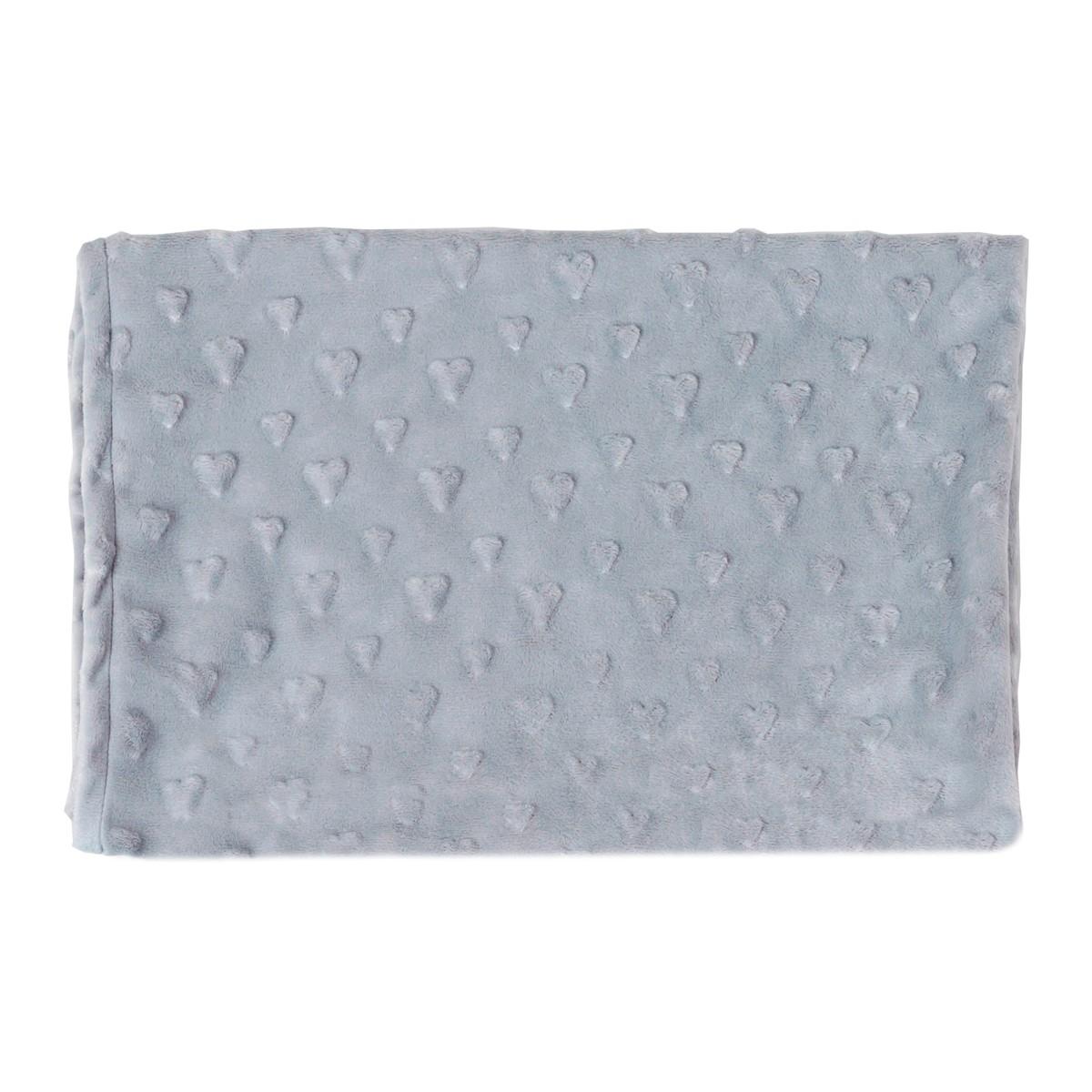 Κουβέρτα Fleece Αγκαλιάς Κόσμος Του Μωρού 0050 Γκρι home   βρεφικά   κουβέρτες βρεφικές   κουβέρτες fleece