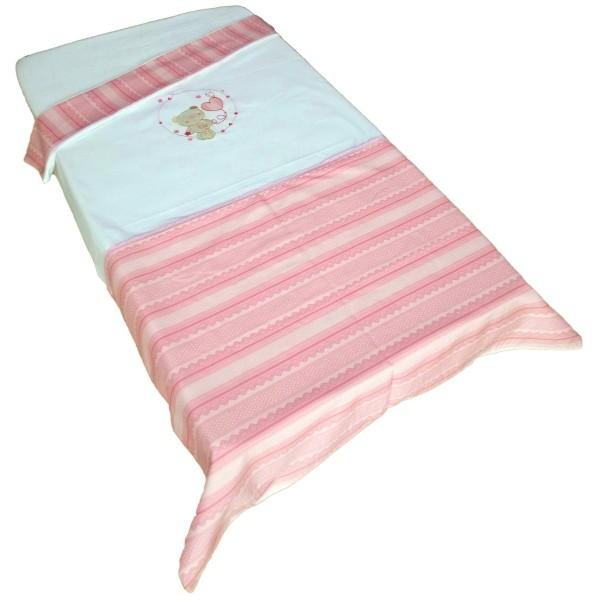 Παπλωματοθήκη Κούνιας Κόσμος Του Μωρού 7895 Heart Ροζ