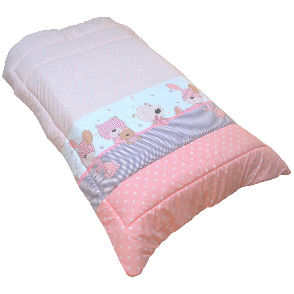 Πάπλωμα Κούνιας Κόσμος Του Μωρού 0685 Stars Ροζ