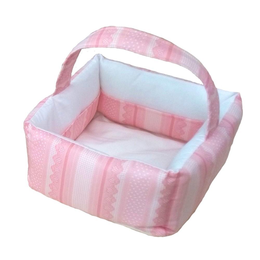 Καλαθάκι Καλλυντικών Κόσμος Του Μωρού 0794 Heart Ροζ