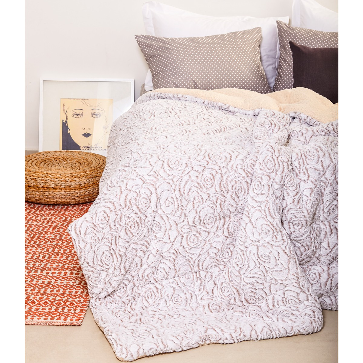 Κουβερτοπάπλωμα Υπέρδιπλο Melinen Abby Rose home   κρεβατοκάμαρα   παπλώματα   κουβερτοπαπλώματα