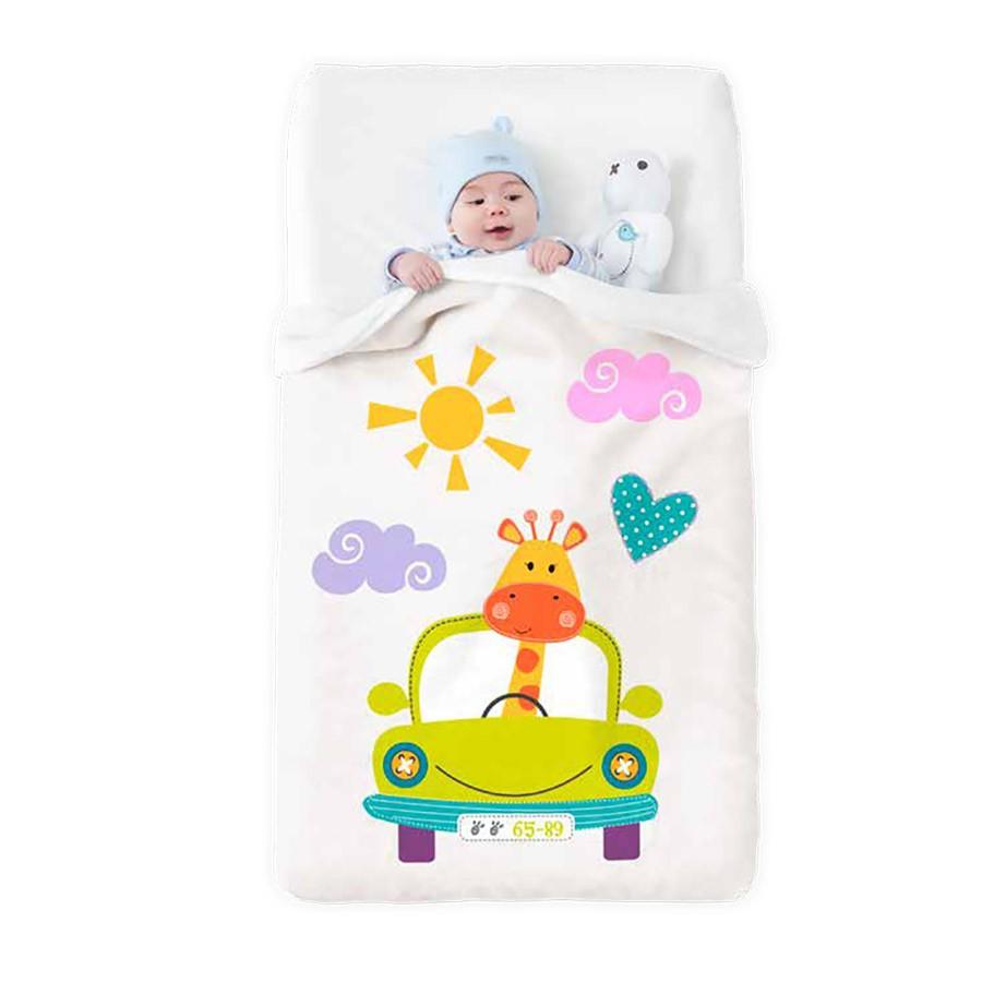 Κουβέρτα Βελουτέ Κούνιας Manterol Baby Happy 709 C15