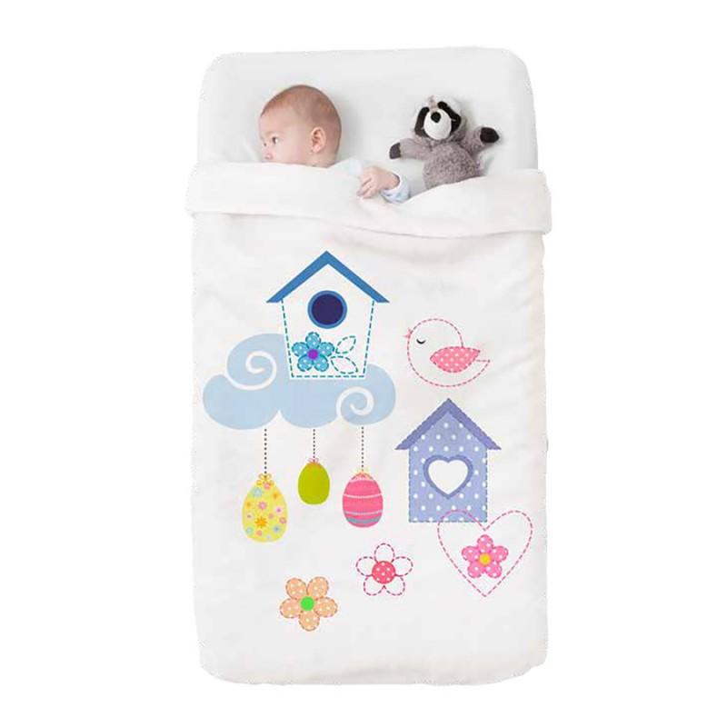 Κουβέρτα Βελουτέ Κούνιας Manterol Baby Happy 710 C15