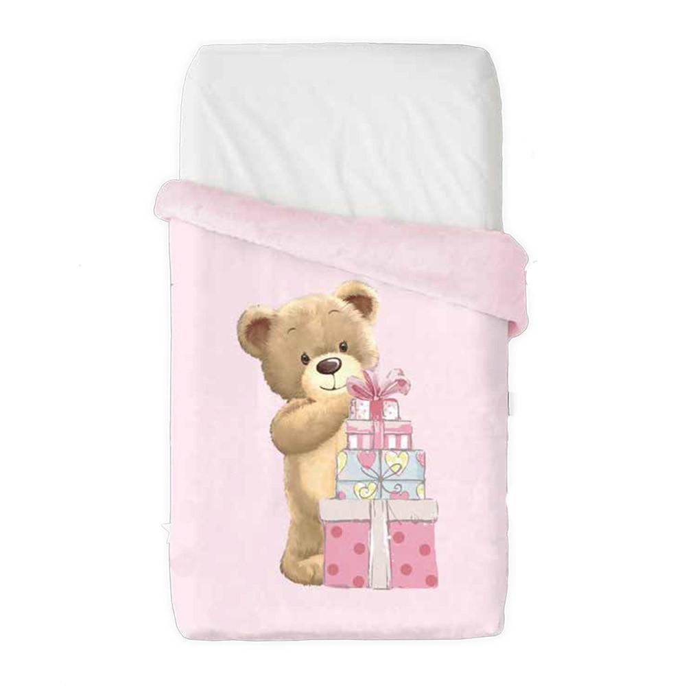 Κουβέρτα Βελουτέ Κούνιας Manterol Baby Vip 521 C04