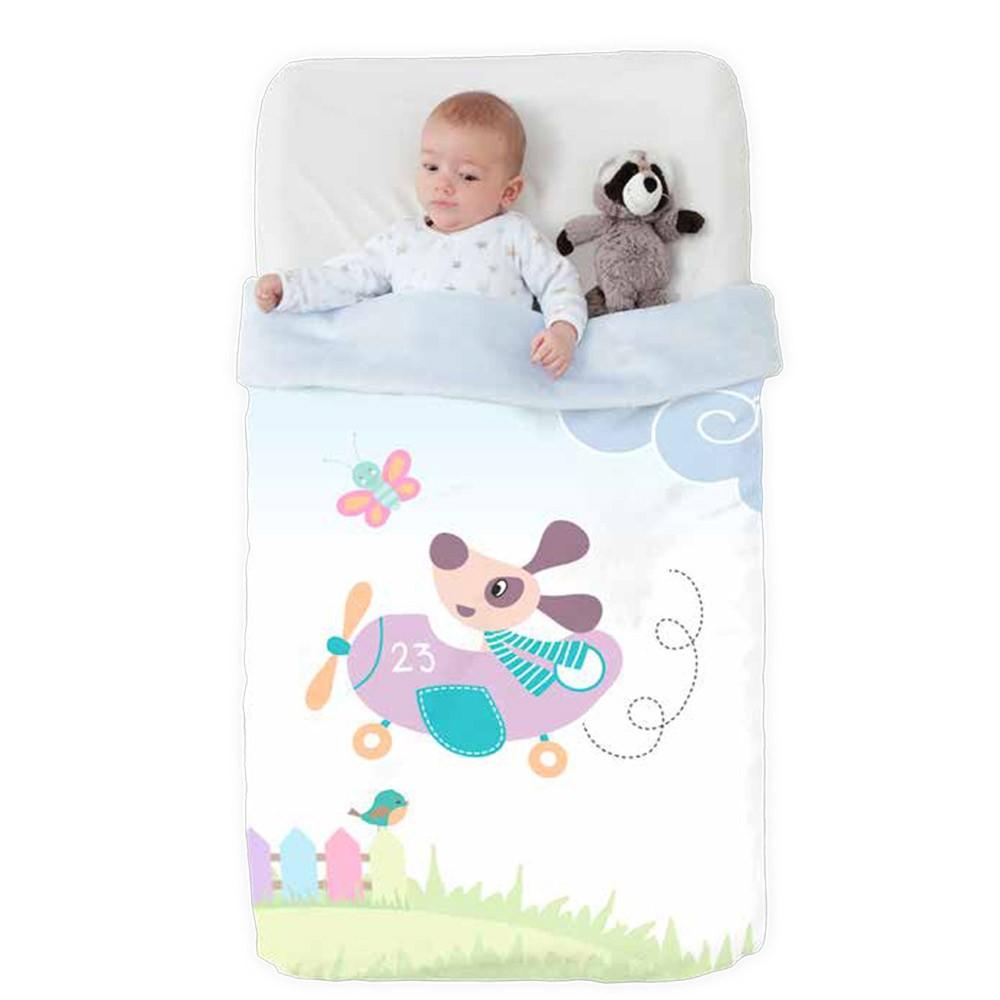 Κουβέρτα Βελουτέ Κούνιας Manterol Baby Vip 518 C15