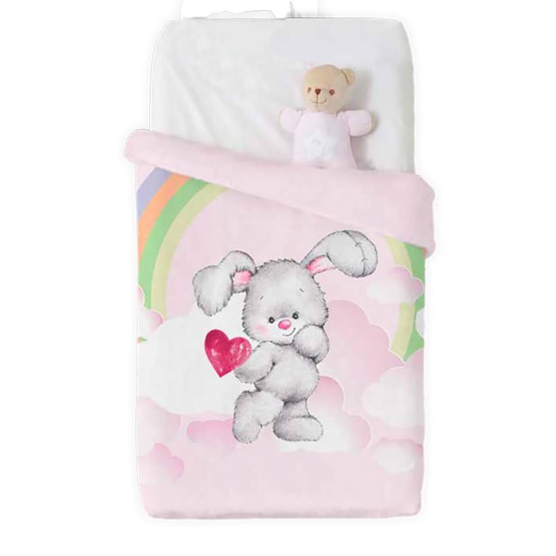 Κουβέρτα Βελουτέ Κούνιας Manterol Baby Vip 517 C04