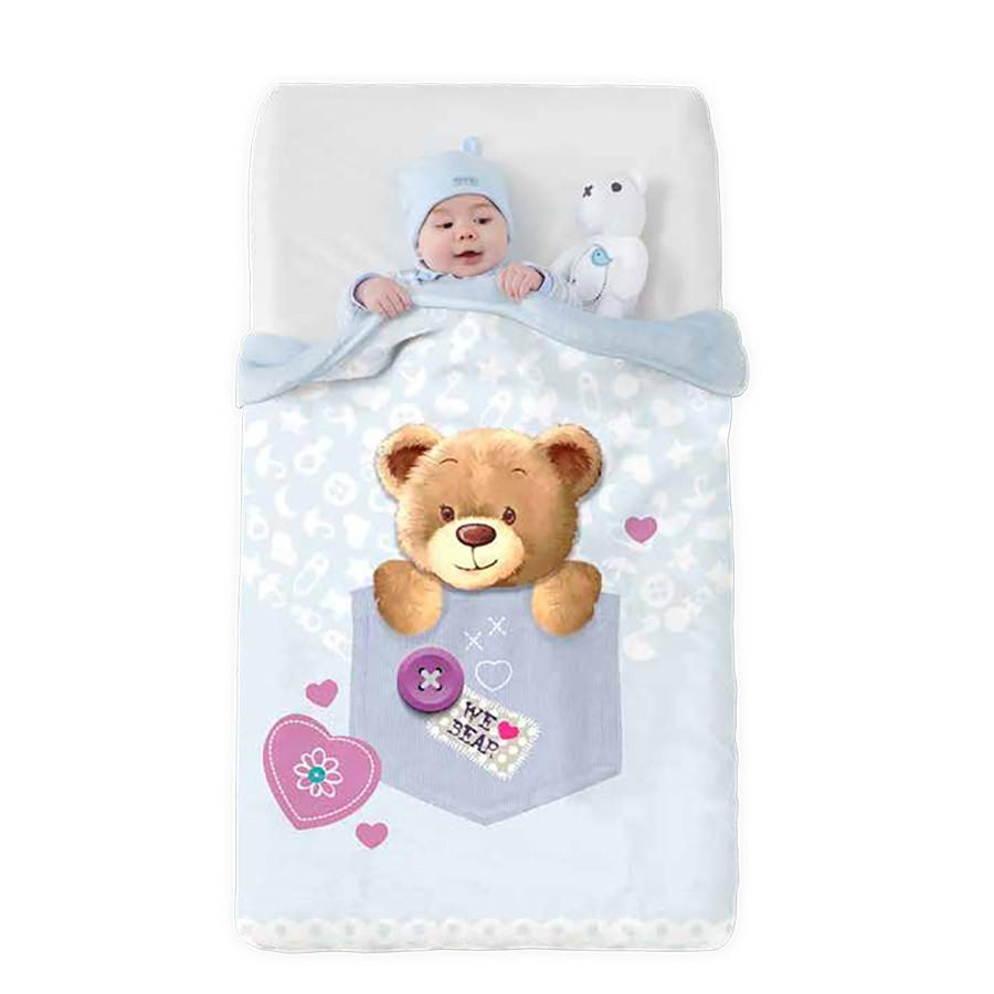 Κουβέρτα Βελουτέ Κούνιας Manterol Baby Vip 519 C08