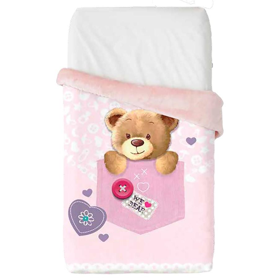 Κουβέρτα Βελουτέ Κούνιας Manterol Baby Vip 519 C04