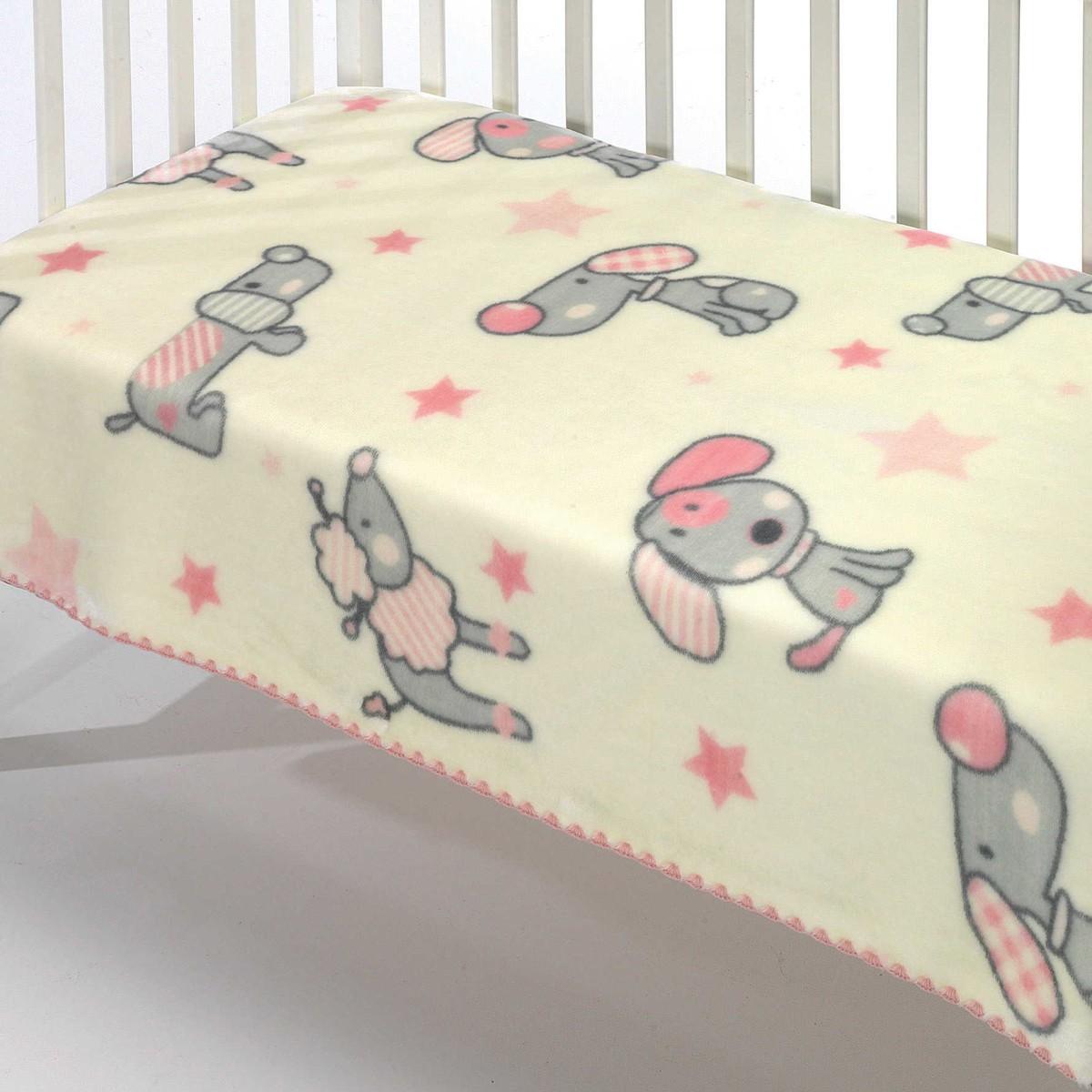 Κουβέρτα Βελουτέ Κούνιας Morven Kidz C31 Pink 81621