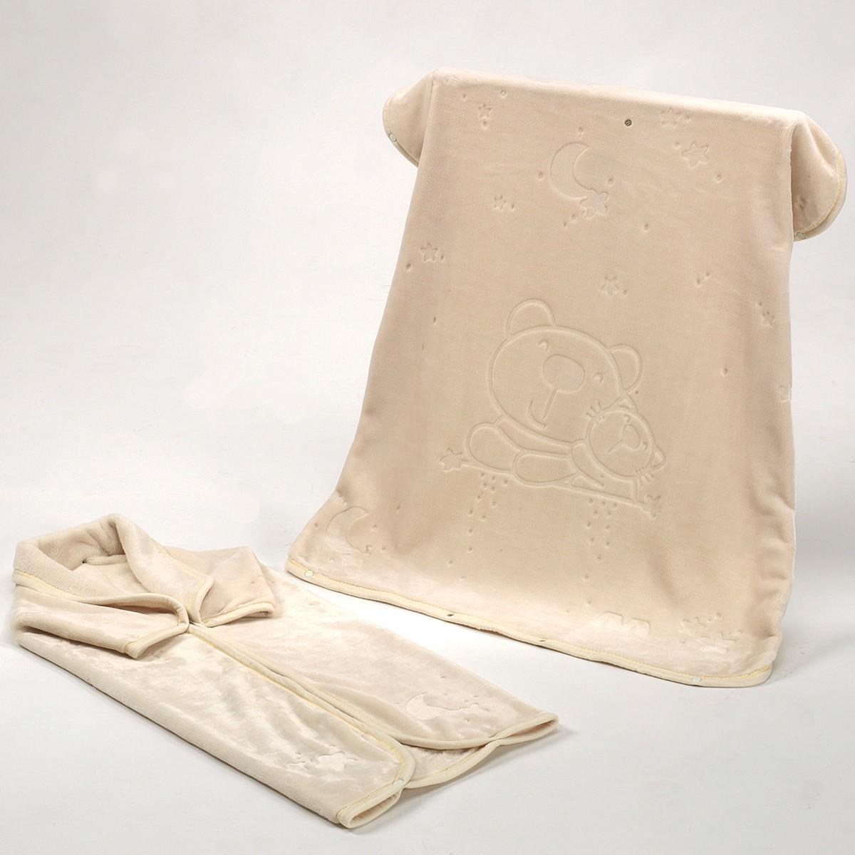 Υπνόσακος Κουβέρτα Βελουτέ Morven Baby Coat 923 Beige