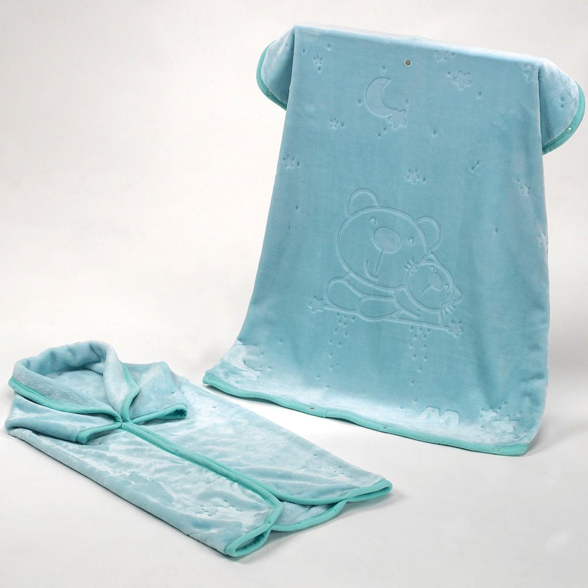 Υπνόσακος Κουβέρτα Βελουτέ Morven Baby Coat 923 Ciel