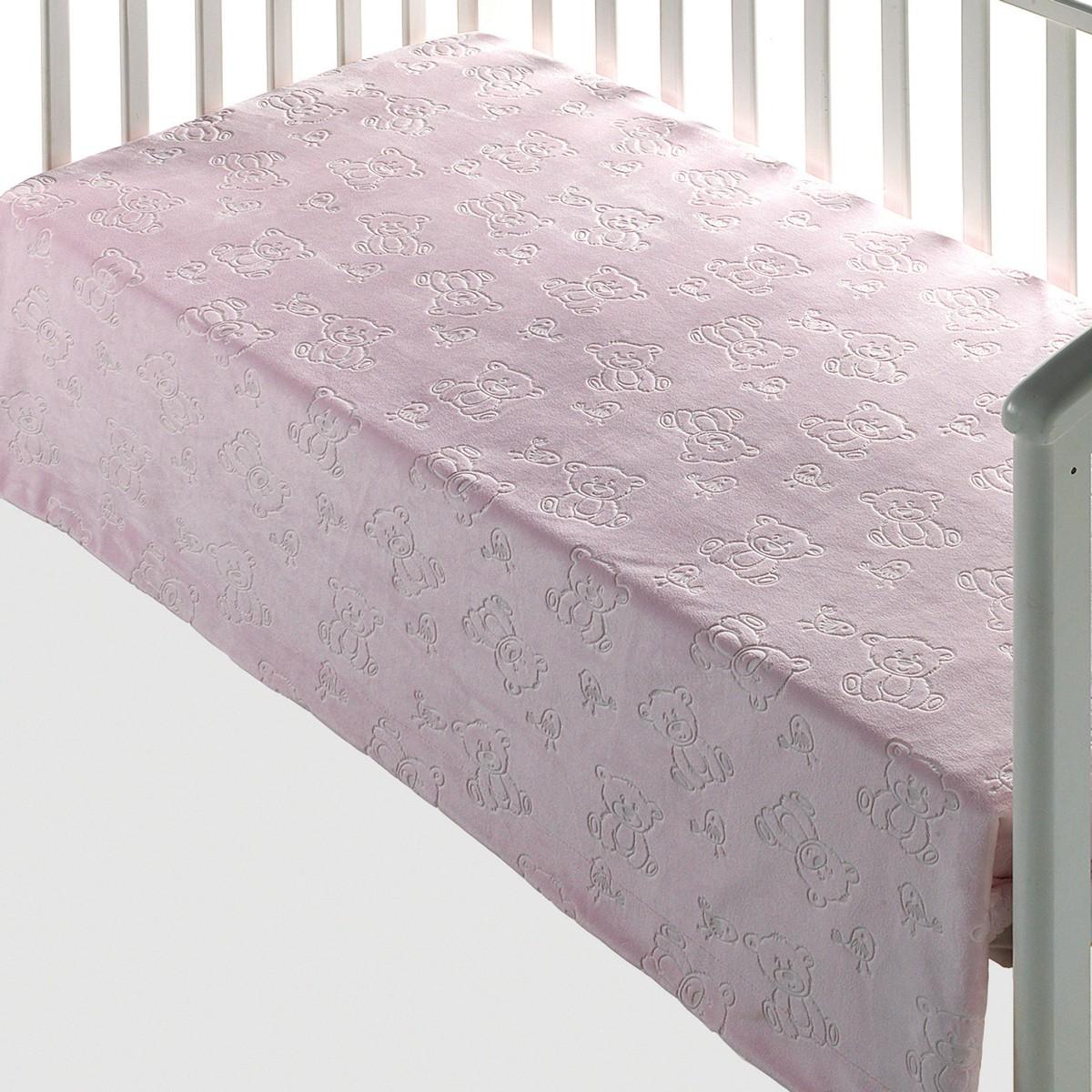 Κουβέρτα Βελουτέ Κούνιας Morven Tacata 207 Pink