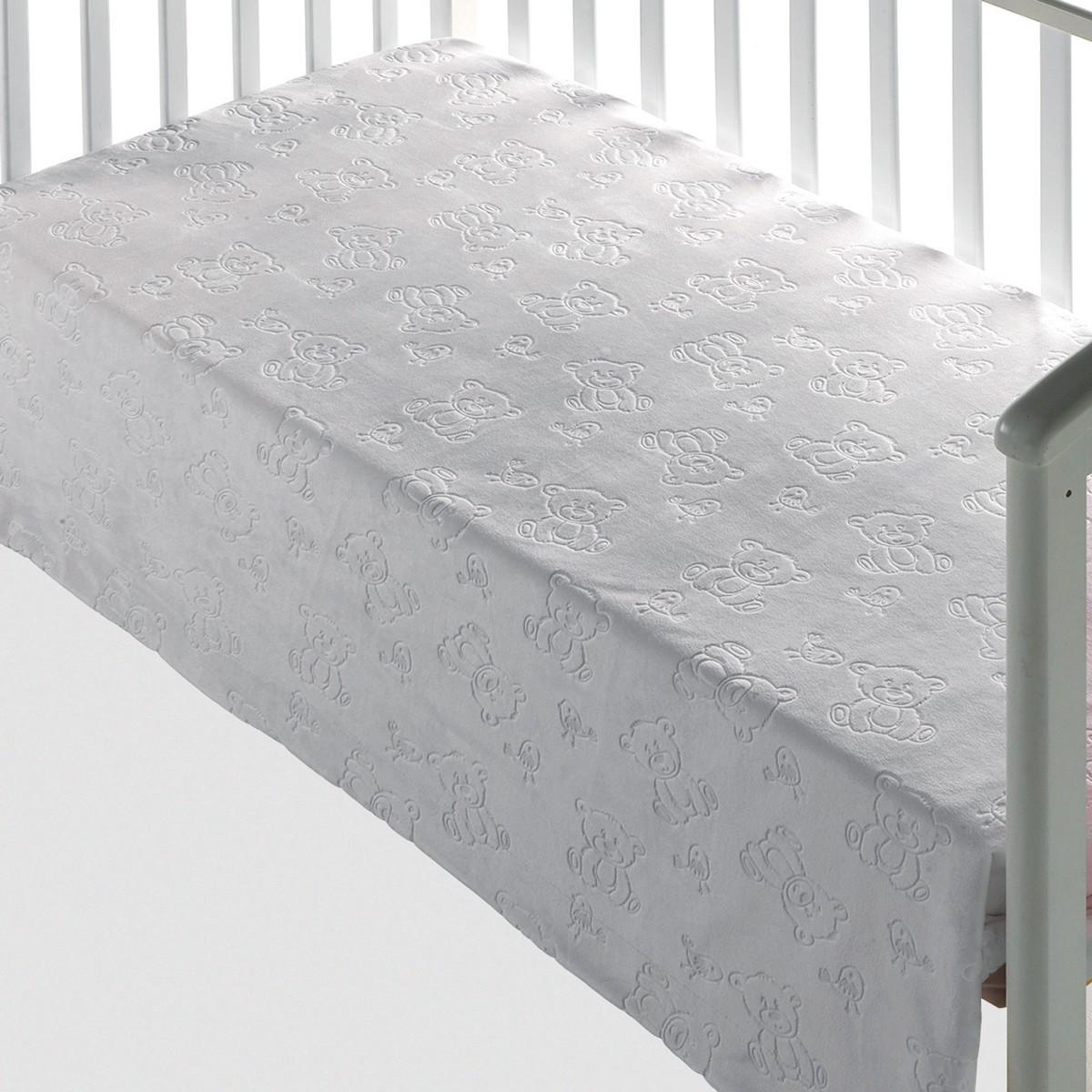 Κουβέρτα Βελουτέ Κούνιας Morven Tacata 207 White 81629