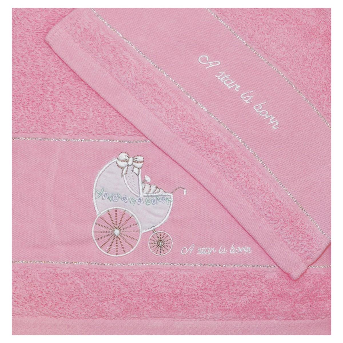 Βρεφικές Πετσέτες (Σετ 2τμχ) Morven 548 Pink