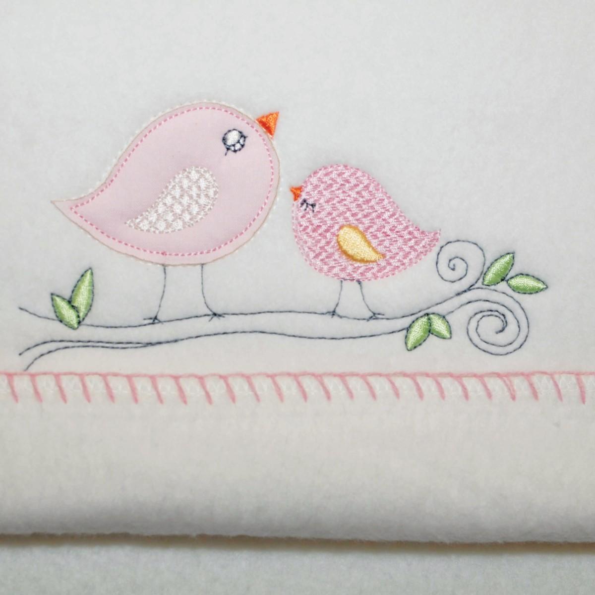 Κουβέρτα Βαμβακερή Αγκαλιάς Morven 525 Pink home   βρεφικά   κουβέρτες βρεφικές   κουβέρτες fleece