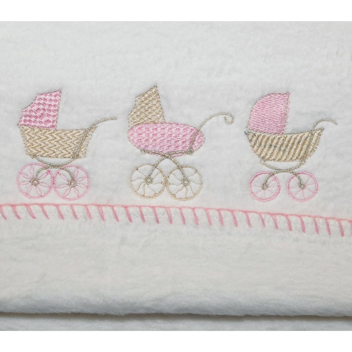 Κουβέρτα Βαμβακερή Αγκαλιάς Morven 608 Pink home   βρεφικά   κουβέρτες βρεφικές   κουβέρτες fleece