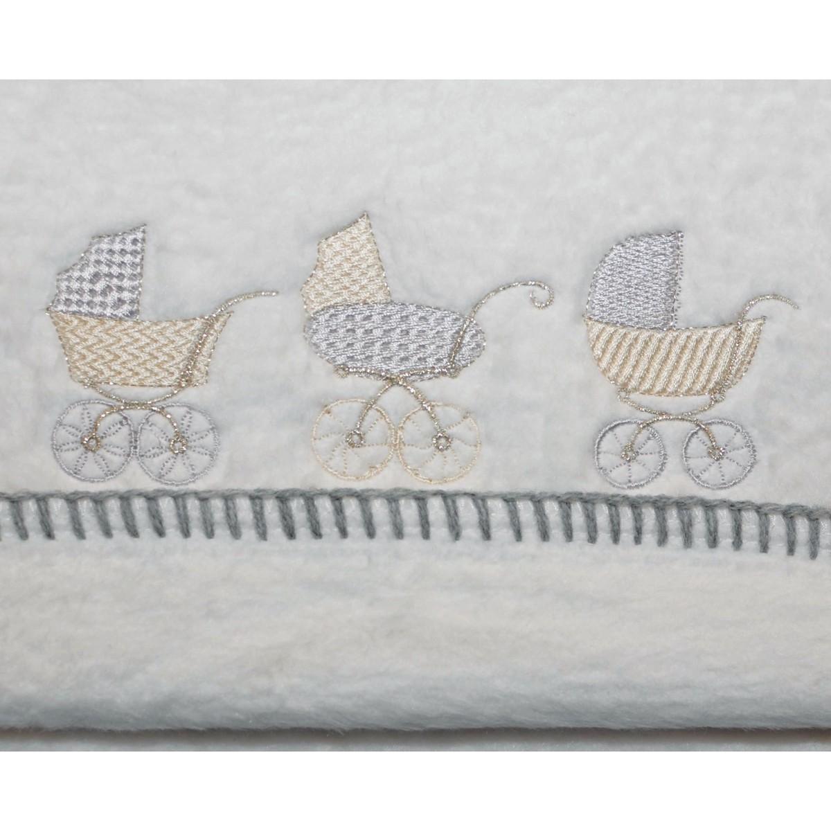 Κουβέρτα Βαμβακερή Αγκαλιάς Morven 608 Grey
