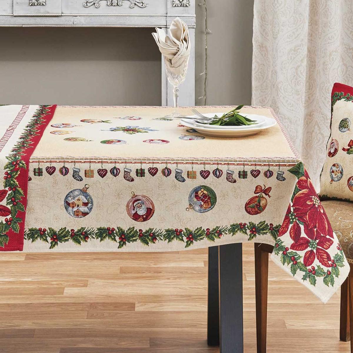 Χριστουγεννιάτικο Τραπεζομάντηλο (135×135) Kentia Made Natale 12