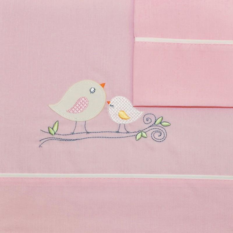 Σεντόνια Κούνιας (Σετ) Morven 525 Pink