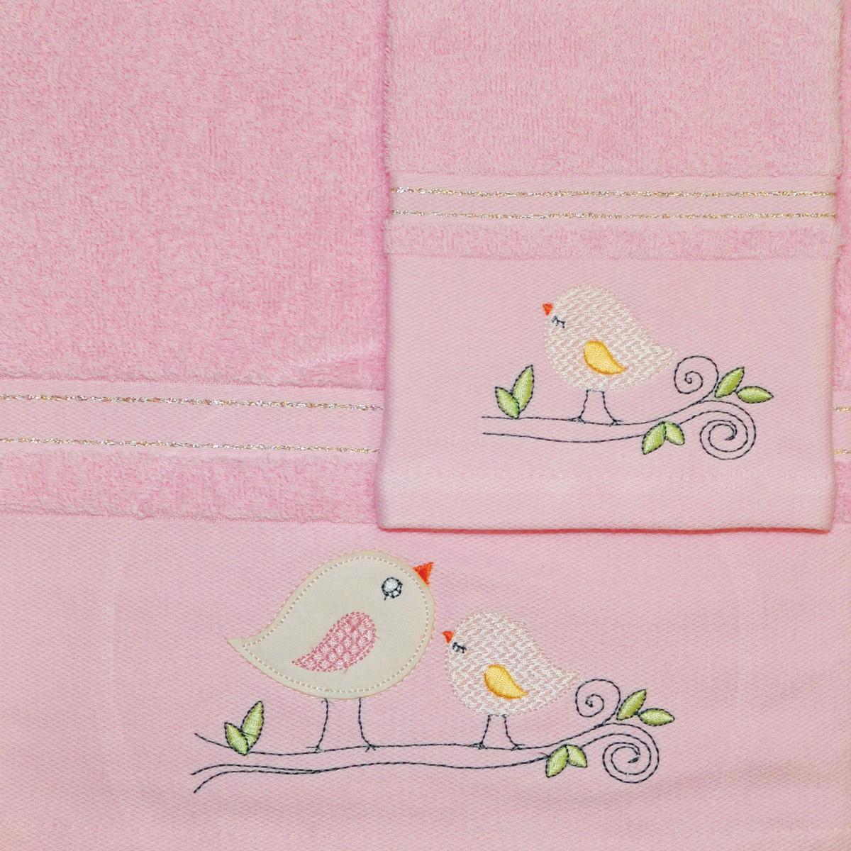 Βρεφικές Πετσέτες (Σετ 2τμχ) Morven 525 Pink