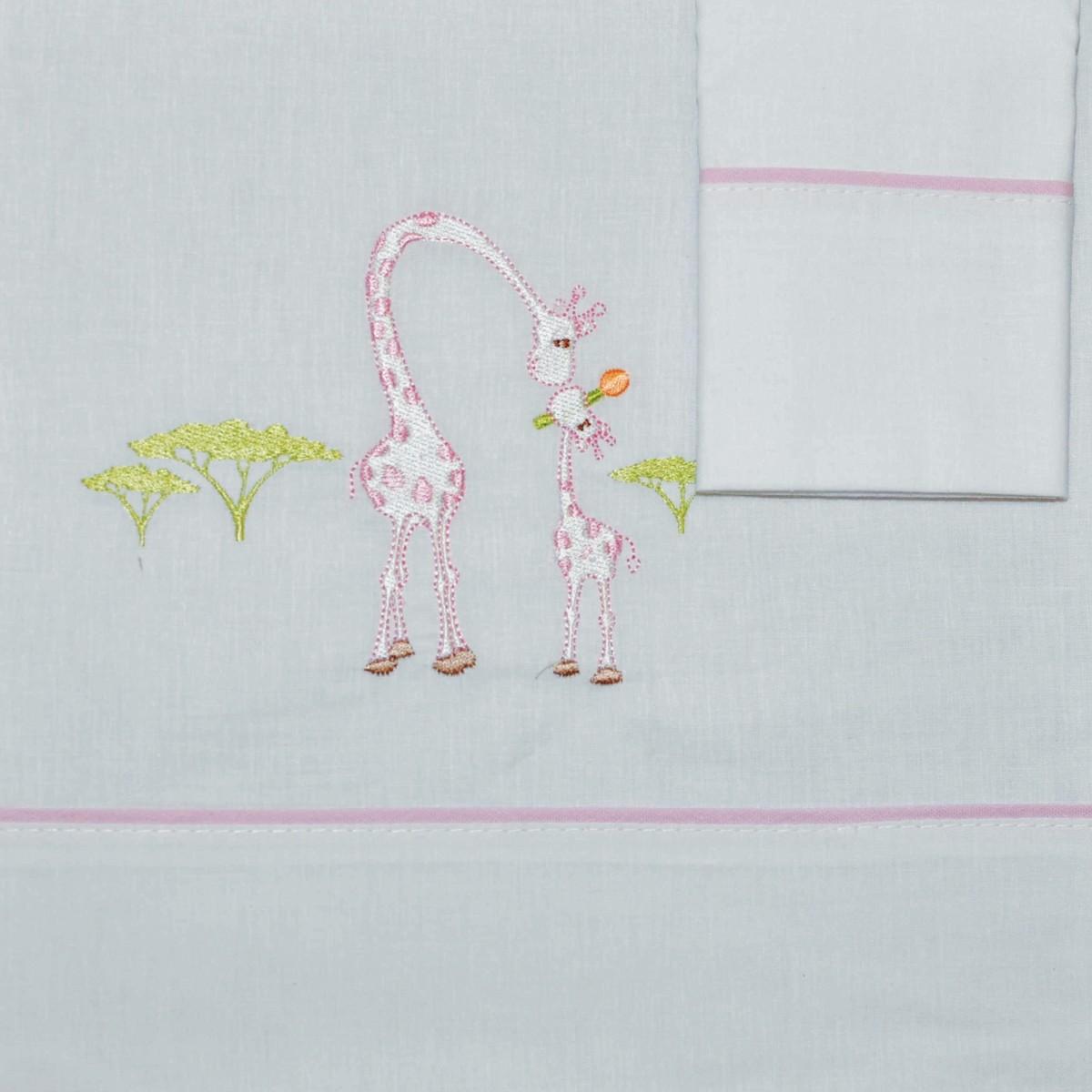 Σεντόνια Κούνιας (Σετ) Morven 621 Pink