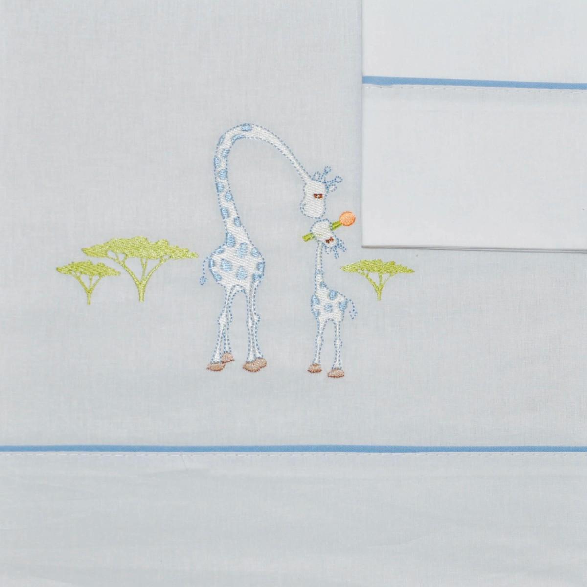Σεντόνια Κούνιας (Σετ) Morven 621 Blue