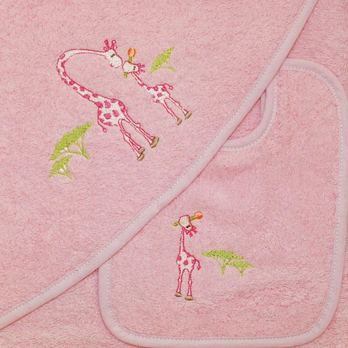 Βρεφική Κάπα + Σαλιάρα Morven 621 Pink