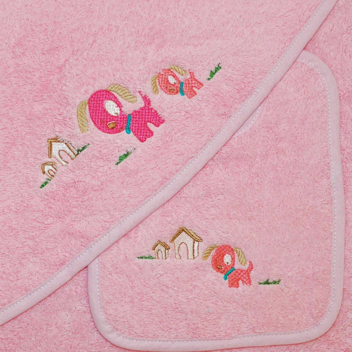 Βρεφική Κάπα + Σαλιάρα Morven 610 Pink home   βρεφικά   κάπες βρεφικές