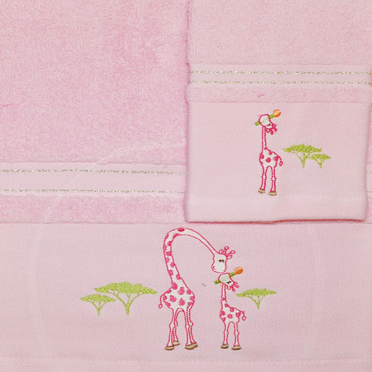 Βρεφικές Πετσέτες (Σετ 2τμχ) Morven 621 Pink