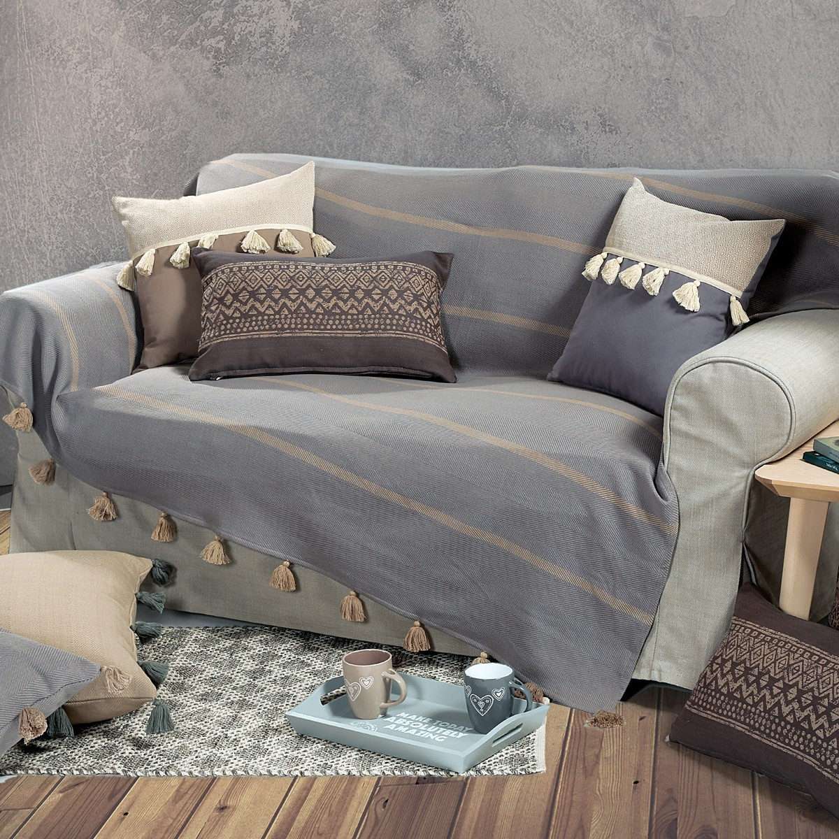 Ριχτάρι Τριθέσιου (180x300) Nef-Nef Alaska Grey