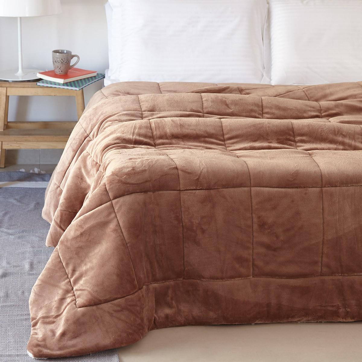 Κουβερτοπάπλωμα Υπέρδιπλο Melinen Molly Mocca home   κρεβατοκάμαρα   παπλώματα   κουβερτοπαπλώματα