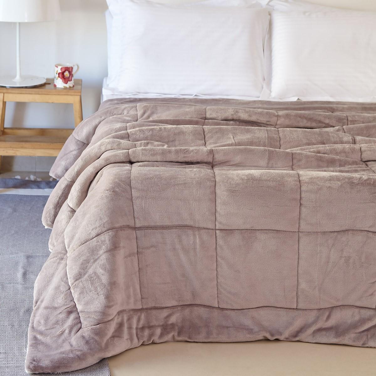Κουβερτοπάπλωμα Υπέρδιπλο Melinen Molly Greige home   κρεβατοκάμαρα   παπλώματα   κουβερτοπαπλώματα