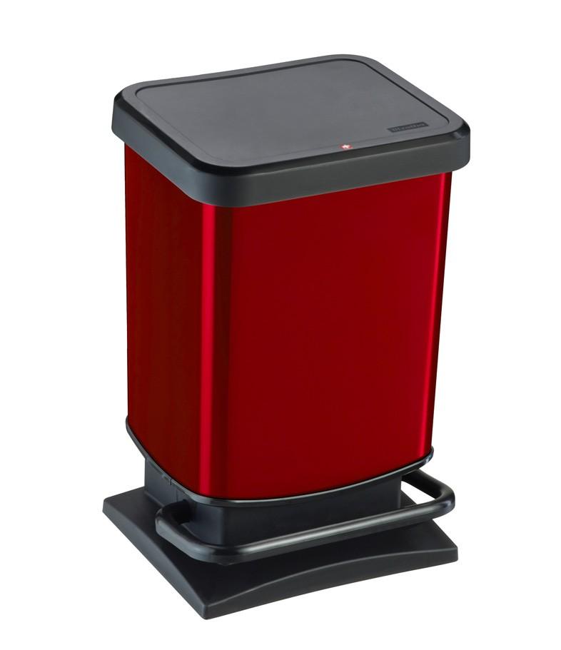 Κάδος Απορριμμάτων Rotho 20Lit Paso 06981.001 Κόκκινο