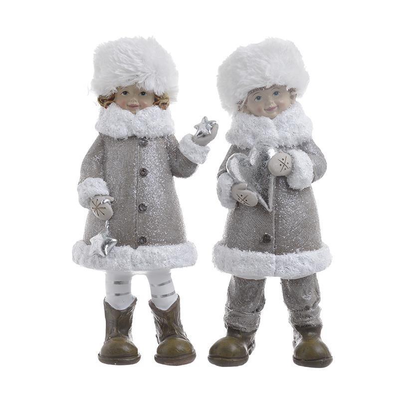 Χριστουγεννιάτικες Φιγούρες (Σετ 2τμχ) InArt 2-70-071-0043 home   χριστουγεννιάτικα   χριστουγεννιάτικα διακοσμητικά