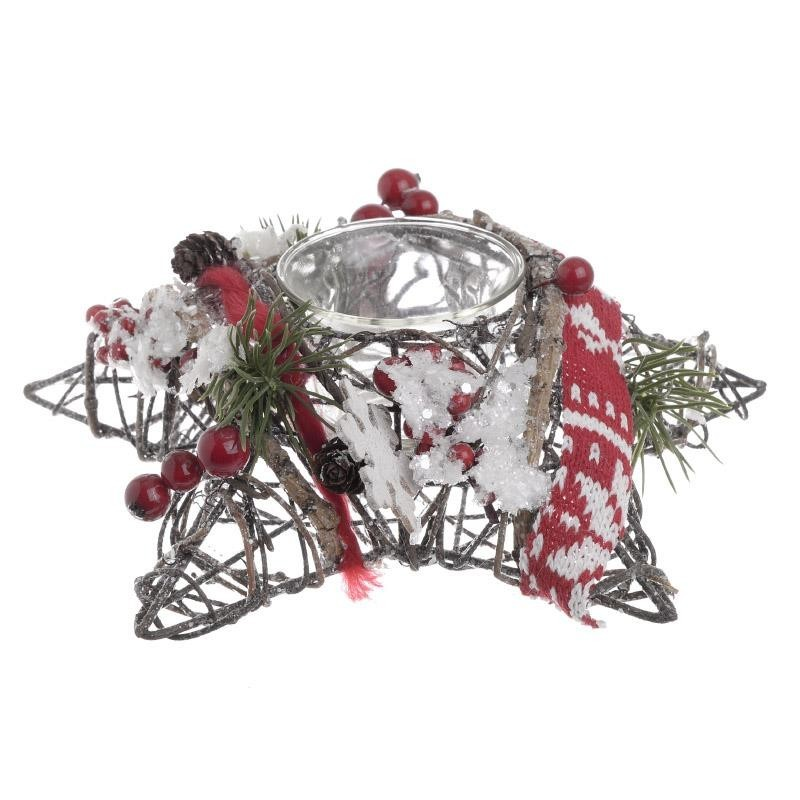 Χριστουγεννιάτικο Κηροπήγιο InArt 2-70-530-0138 home   χριστουγεννιάτικα   χριστουγεννιάτικα διακοσμητικά