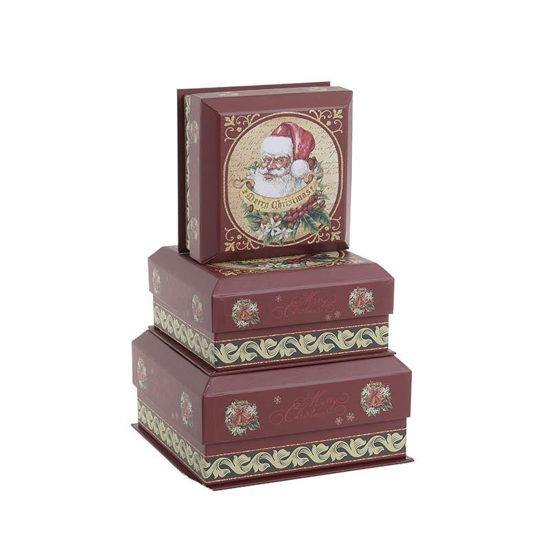 Χριστουγεννιάτικα Κουτιά (Σετ 3τμχ) InArt 2-70-926-0006 home   χριστουγεννιάτικα   χριστουγεννιάτικα διακοσμητικά